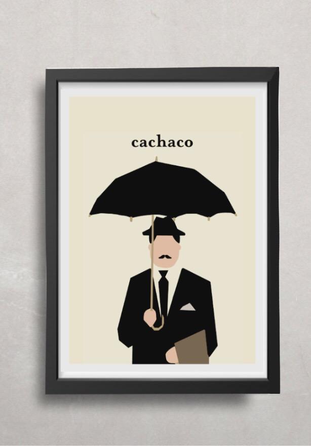 """Póster """"Cachaco"""" enmarcado"""